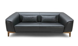 'Sirius' Three Seater Office Sofa In Leather