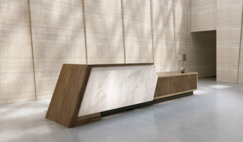'iKey' 12 Ft. Reception Table For Large Lobbies