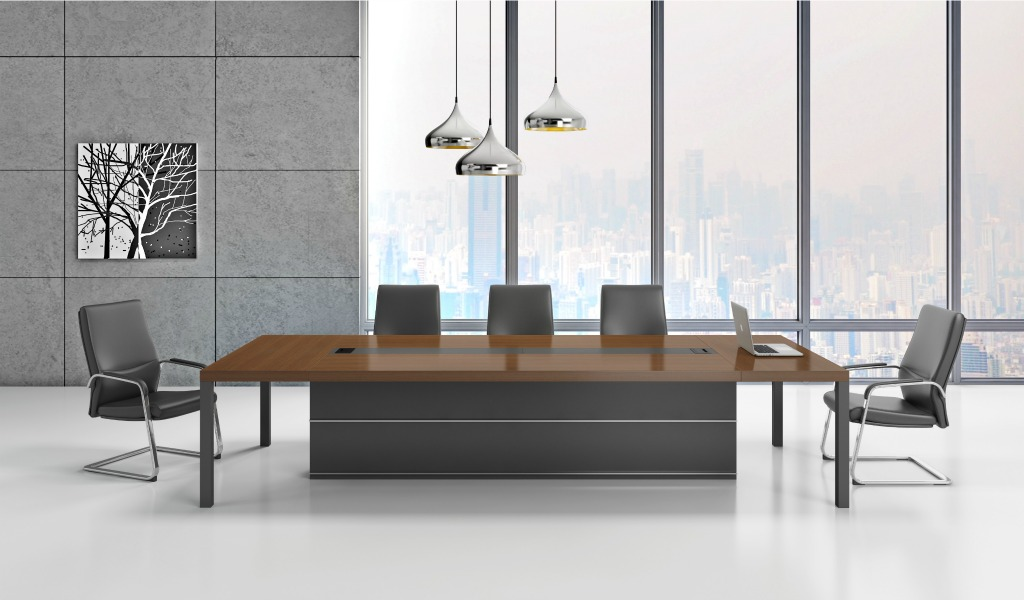 'Marc' 14 Seat Conference Table In Walnut Veneer