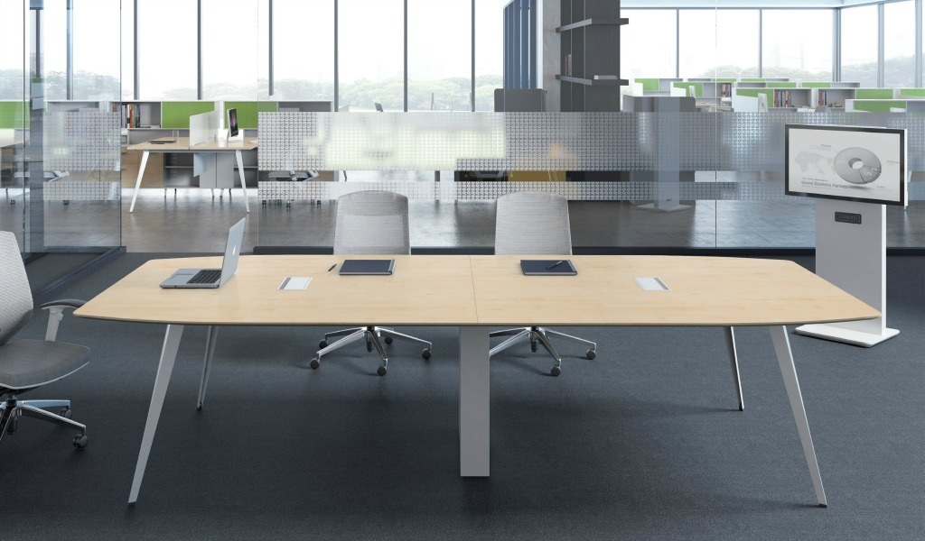 'Spark' 12 Seat Conf. Table With Wire Management