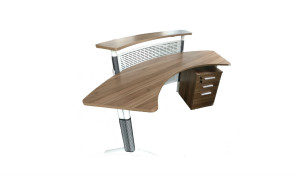 'Apo' Curved Reception Table Wood & Metal