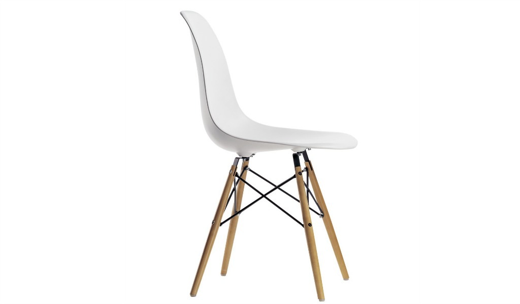 Eams Inspired DSW Chair In White PP & Beech Wood