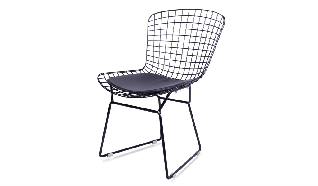 Eams Inspired Black Wire Chair