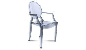 'Waft' Cafeteria Chair In Gray Acrylic