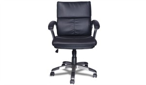 'Larry' Medium Back Office Chair In PU Leather