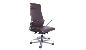 'Hero' Exe. Office Chair In Brown Leather