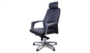 'Duke' Leather Office Chair With Headrest