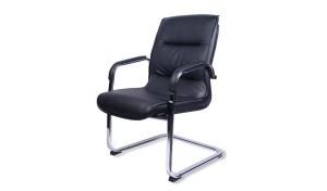 'Victor' Visitors' Chair In PU Leather