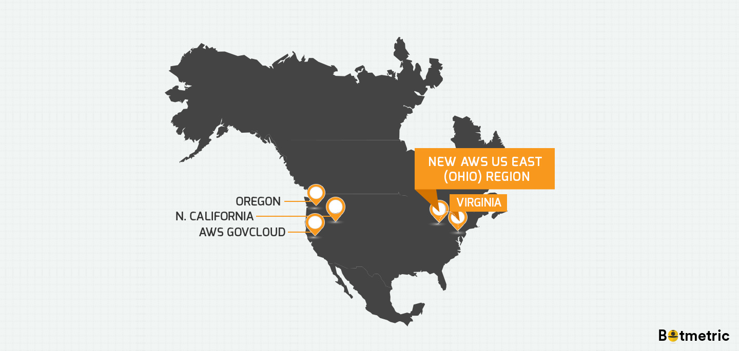 New Aws Ohio Region Is A Great News For Aws Virginia Customers Botmetric