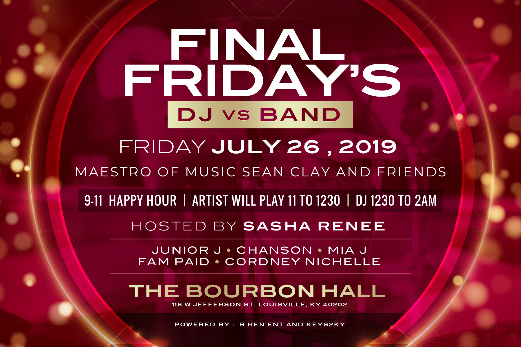 Final Friday's DJ vs Band
