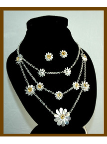 Citrin Daisy Necklace with Stud