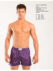 EROTIC, Unisex Silk Boxer-Small