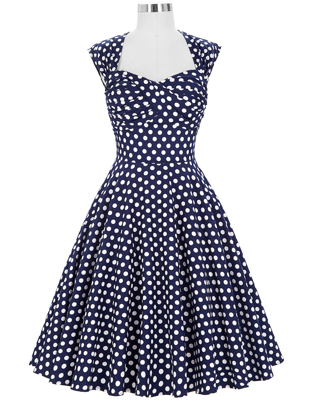 Donna Dress In Blue Polka | Rosie The Rebel | Canada | Retro And ...