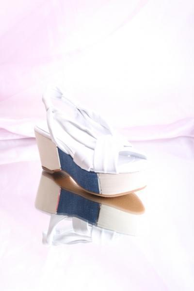 White Leather Platform Sandals