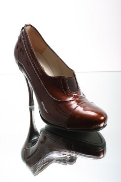 Patent Leather Stiletto Booties