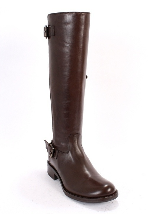 Brown Leather / Elastic Insert Riding Boots