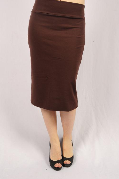Brown Long-Length Skirt