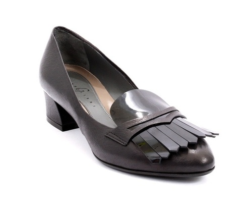 Black Leather / Patent Leather Penny Loafers