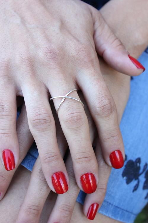 Silver Cross Cuff Ring