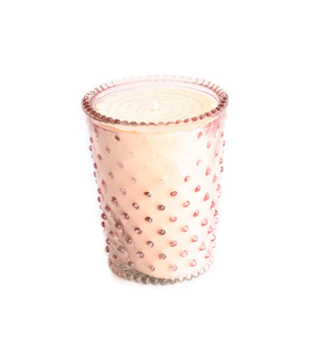 Coral Hobnail Candle
