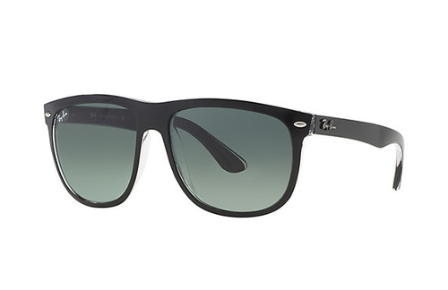 Ray-Ban 4147 Top Black on Transparent Grey Gradient Azure