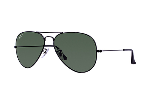 Ray-Ban Aviator Polarized Black Natural Green