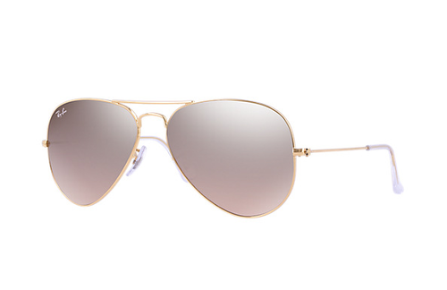 Ray-Ban Gradient Aviator Arista Brown-Pink Silver Mirror