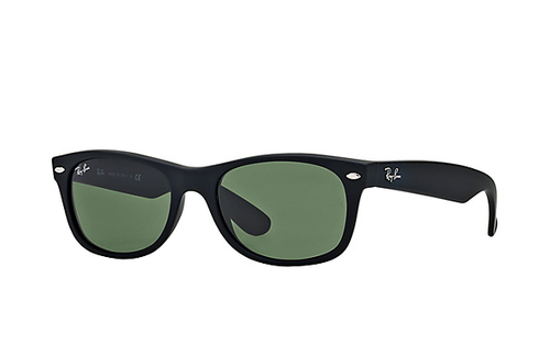 Ray-Ban Matte New Wayfarer Black Rubber G-15XLT