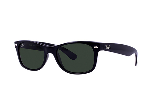 Ray-Ban New Wayfarer Black Polarize Green G-15XLT