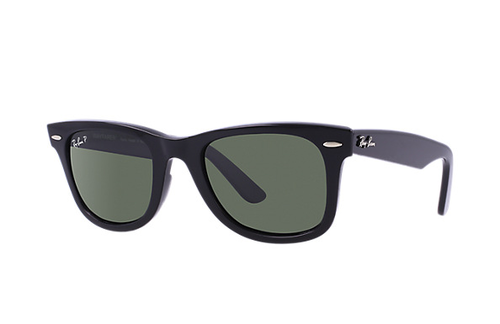 Ray-Ban Polarized Wayfarer Black Natural Green