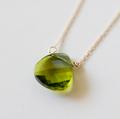 Gold Green Swarovski Necklace