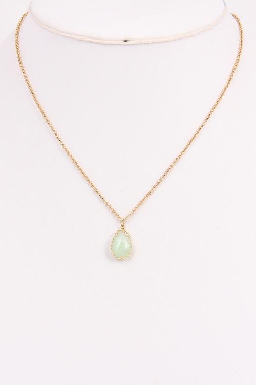 Bead Chain Gem Necklace