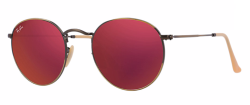 e2b9032bdb Ray Ban Round Metal Red Mirror Flash Lenses By Ray Ban