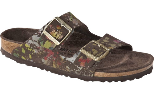 Birkenstock Arizona Soft Footbed Flower Crush Mocha Suede