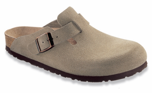 Birkenstock Boston Soft Footbed Taupe Suede