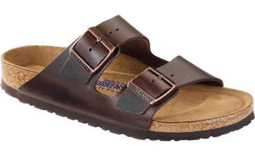 Birkenstock Arizona Soft Footbed Amalfi Testa Di Moro Leather