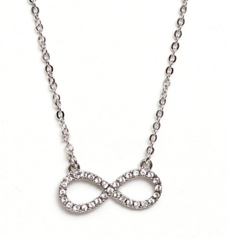 Pave Silver Infinity Pendant