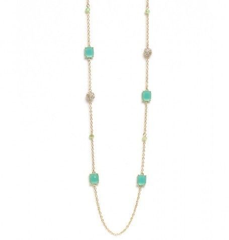 Green&Pearls Long Necklace