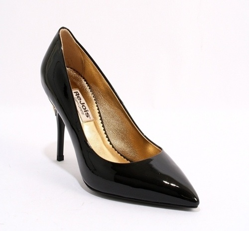 Black Pointy Patent Leather Heels