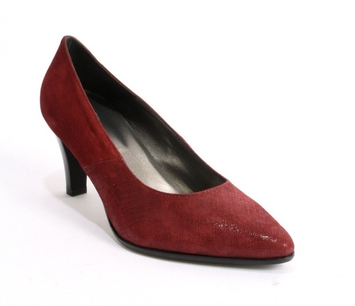 Burgundy Suede / Laser Treated Shiny Suede Pointy Pumps