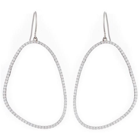b6675457bb0f0 Sterling Silver Organic Shaped Earrings By Marcia Moran   Piajeh ...
