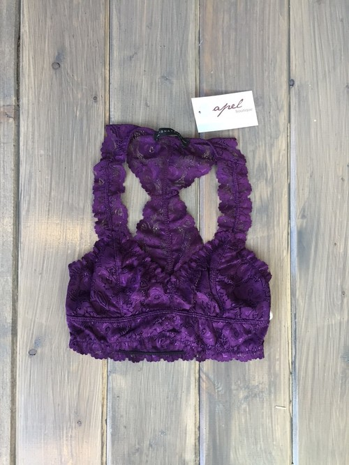 Lace Bralette Purple