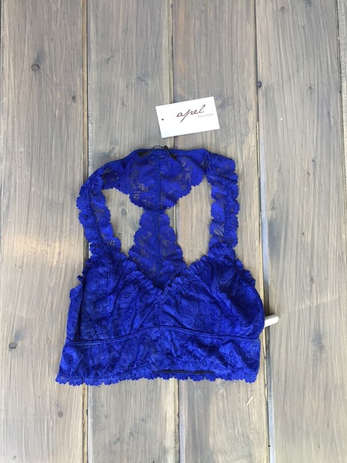 Lace Bralette Royal Blue