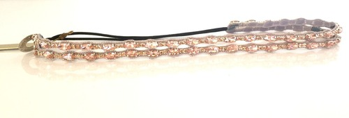 Small Pink Crystal Double Split Headband