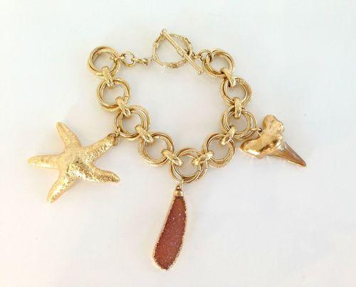 Shark Tooth Starfish Bracelet