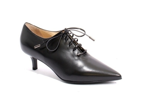Leather Pointy Toe Lace Up Booties Shoes By Nando Muzi