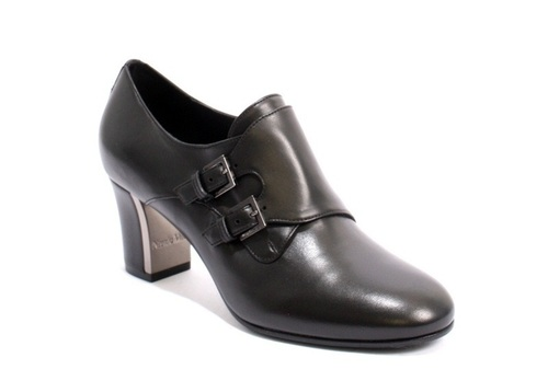Leather Round Toe Buckle Booties Shoes