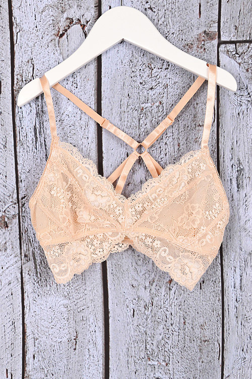 Adjustable Strap Bralette Nude