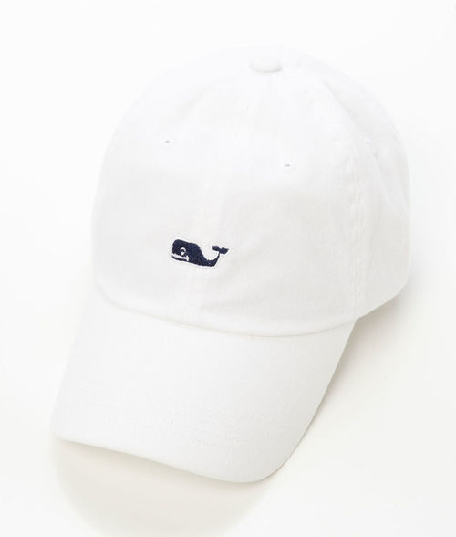 Vineyard Vines Whale Logo BB Hat White Cap