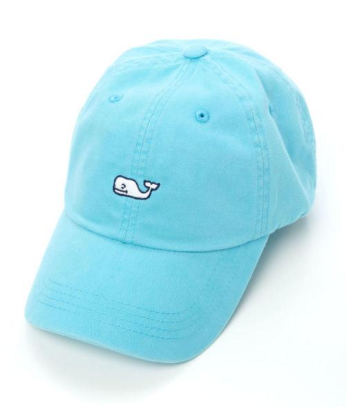 Vineyard Vines Whale Logo BB Hat Aqua Blue